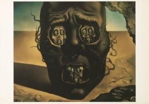 Salvador Dali (1904-1989) -Het aangezicht van de oorlog, Le visage de la guer- Postkaart