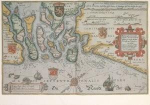 L. Jansz Waghenaer ca1533-1605-Uit: Spieghel der Zeevaerdt van Lucas Jansz, Waghe- Postkaart