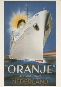 Jean Walther (1910-1968) -Stoomvaartmaatschapij Nederland- Postkaart