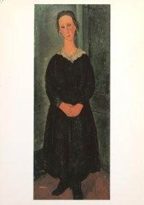 Amedeo Modigliani (1884-1920) -Modigliani/Servant Girl/ AKG- Postkaart