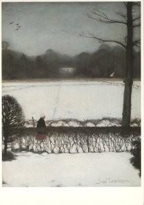 Jan Mankes (1889-1920) -Uitzicht atelier te Eerbeek- Postkaart