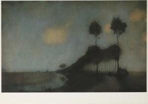 Jan Mankes (1889-1920) -Woudsterweg bij Oranjewoud, 1912- Postkaart