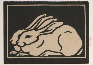 Julie de Graag (1877-1924) -Twee konijntjes- Postkaart