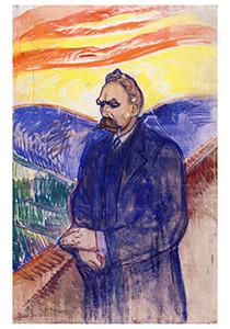 Edvard Munch (1863-1944) -Friedrich Nietzsche, 1906- Postkaart