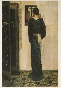 George H. Breitner (1857-1923)-Het oorringetje- Postkaart