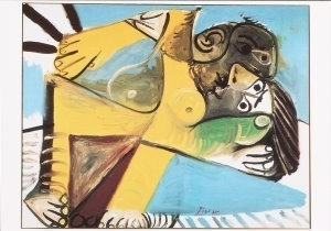 Pablo Picasso (1881-1973) -Couple 1969- Postkaart