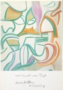Willem de Kooning (1904-1997) -Garden in Delft- Postkaart