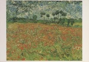 Vincent van Gogh (1853-1890) -Papaverveld- Postkaart