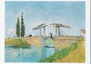 Vincent van Gogh (1853-1890) -Drawbridge in Arles- Postkaart
