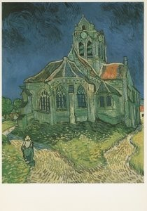 Vincent van Gogh (1853-1890) -The Church at Auvers-sur-Oise, 1890- Postkaart