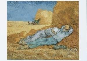 Vincent van Gogh (1853-1890) -La meridienne ou La sieste- Postkaart
