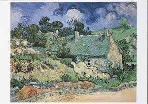 Vincent van Gogh (1853-1890) -Chaumes de Cordeville a Auvers-sur-Oise, 1890- Postkaart