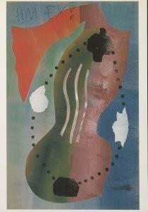 Hendrik Nic.Werkman (1882-1945-Compositie, 1944- Postkaart