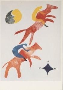 Hendrik Nic.Werkman (1882-1945-Hot Printing I, rennpaarden, 1935-36- Postkaart