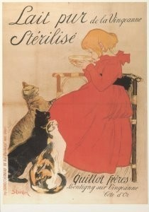 Theophile-Alexandre Steinlen -Lait pur, ca. 1900- Postkaart
