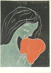 Edvard Munch (1863-1944) -Vrouw met hond- Postkaart