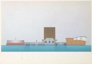 Alessandro Mendini (1931) -Mendini/Aanzicht Zuidz./GM- Postkaart
