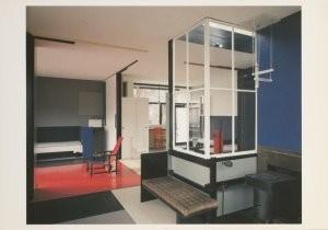 Gerrit Th. Rietveld (1888-1964-Interieur Rietveld Schroderhuis, 1924- Postkaart