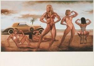 Guy Johnson (1927) -Beach Fashions- Postkaart
