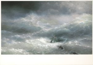 Ivan Aivazovsky (1817-1900) -The Wave, 1889- Postkaart