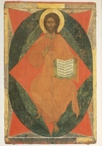 Anoniem, -The Saviour among the Heavenly Host, late XVI, Tve- Postkaart
