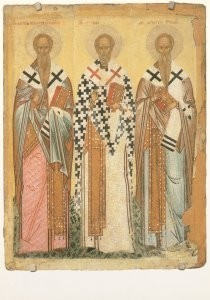 Anoniem, -The selected Saints: St. James, St. Nicholas, St.- Postkaart