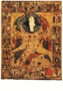 Anoniem, -The transfiguration with feasts, 1st half of XVI c- Postkaart