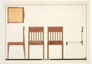 Piet Zwart (1885-1977) -P.Zwart/Eetkamerstoel/HGM- Postkaart