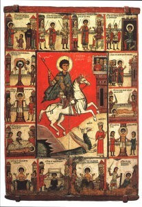 Anoniem, -The Miracle of St. George and his life, XIV centur- Postkaart