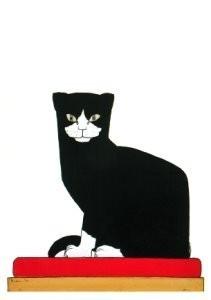 Bart van der Leck (1876-1958) -De Kat / The Cat, 1914- Postkaart