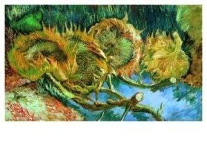 Vincent van Gogh (1853-1890) -Stilleven met vier zonnebloemen- Postkaart