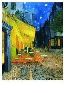 Vincent van Gogh (1853-1890) -Cafe-terras- Postkaart