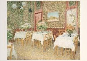 Vincent van Gogh (1853-1890) -Interieur van een restaurant, 1887- Postkaart