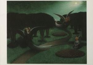 Degouve de Nuncques (1867-1935-Engelen in de nacht, 1894- Postkaart