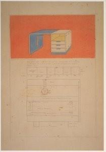 Gerrit Th. Rietveld (1888-1964-G.Rietveld/Ladenkast met /CMU- Postkaart