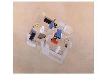 Gerrit Th. Rietveld (1888-1964-Isometrische projectie Rietveld Schroderhuis, ca.- Postkaart