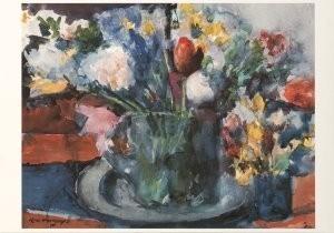Kees Verwey (1900-1995) -Stilleven met bloemen- Postkaart
