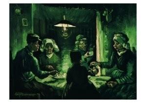 Vincent van Gogh (1853-1890) -Aardappeleters- Postkaart