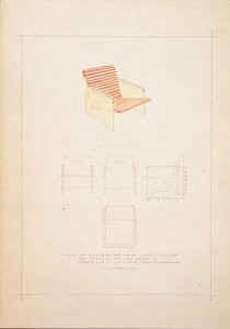 Gerrit Th. Rietveld (1888-1964-G.Rietveld/Stoel/BR/CMU- Postkaart
