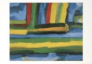 Gerrit Benner (1897-1981) -Zomers landschap- Postkaart