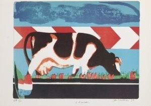 Jan Cremer (1940) -Nederlandse wegscene, 1973- Postkaart
