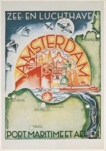 Fré Cohen (1903-1943) -Zee-en Luchthaven Adam- Postkaart
