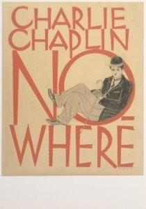 Stefan Schlesinger (1896-1944)-Chaplin, Nowhere, 1928 (affiche)- Postkaart