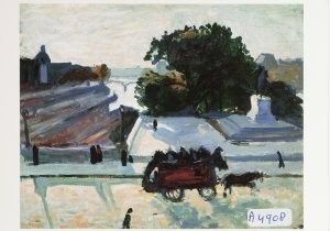 Albert Marquet (1875-1947) -De Pont-Neuf in de zon, 1906- Postkaart