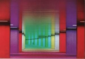 Peter Struycken (1939) -Nederlands Architectuurinstituut, arcade met licht- Postkaart