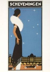 Louis C. Kalff (1897-1976) -Afbeelding van L. Kalff op toeristische folder met- Postkaart