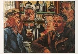Charlie Toorop (1891-1955) -Aan den Toog- Postkaart