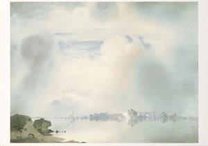 Jan Voerman sr. (1857-1941) -Vroege morgen aan de IJssel- Postkaart