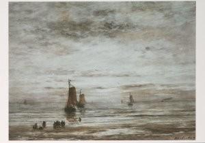 Hendrik W. Mesdag (1831-1915) -Avondstemming- Postkaart