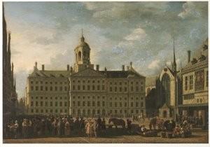 Gerrit Berkheyde (1638-1698) -G. Berkheijde/dam A'dam/AHM- Postkaart